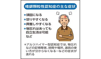 高齢化に伴い増加―嗜銀顆粒性認知症  頑固で怒りっぽくなる